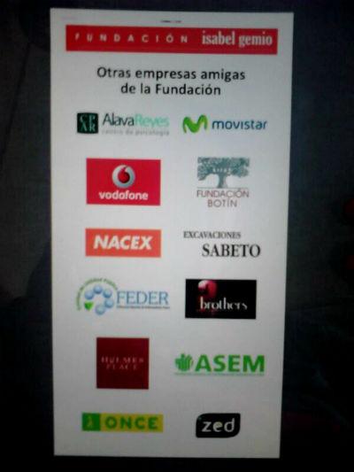 Roll-up cóctel benéfico Fundación Isabel Gemio