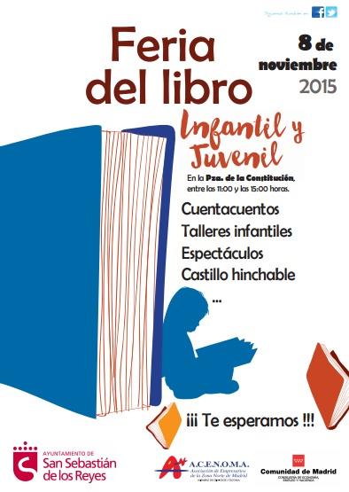 Cartel de la Feria del Libro Infantil y Juvenil de San Sebastián de los Reyes