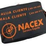 Valija Nacex, de 47x32cm y con fuelle de 8cm