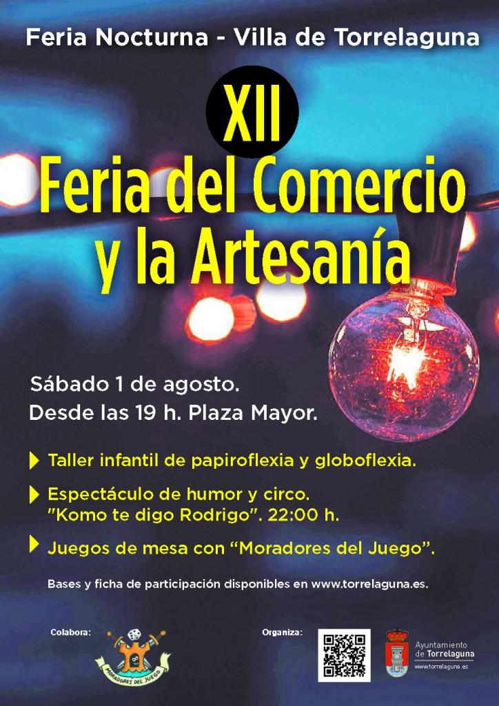 feria-nocturna-comercio-artesania-torrelaguna-2015-cartel