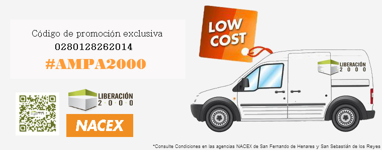 oferta-transporte-low-cost-ampa2000-colegios-san-fernando-henares-san-sebastian-reyes-liberacion2000-nacex-madrid-2014